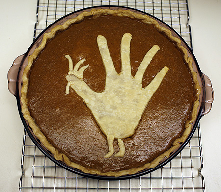 Gobble, gobble! Eat my pumpkin pie!
